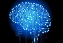 inteligencia artificial representada en el cerebro humano
