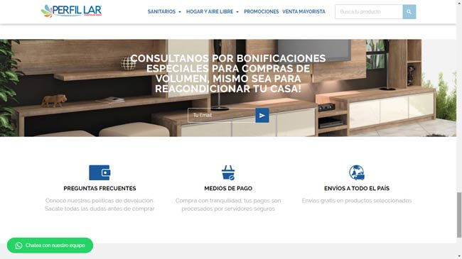 captura de pantalla sitio web