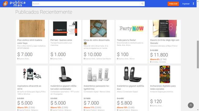 portal de e commerce captura de pantalla