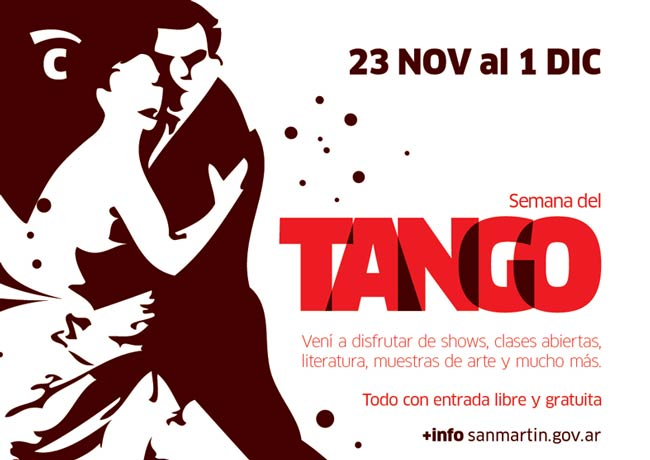 flyer semana del tango en san martin 2019