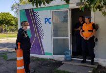 Valenzuela dialogó con personal de seguridad