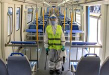 desinfectante tren mitre