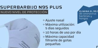 barbijo atom protecto plus